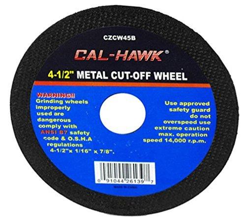 Cal Hawk Tools CZCW45B Metal Cut-Off Wheel (50 Pack), 4-1/2'' by Cal Hawk Tools