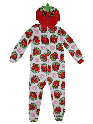 Shopkins Strawberry Kiss Union Suit Costume Pajamas Girls 6-16 (M (7/8)) -