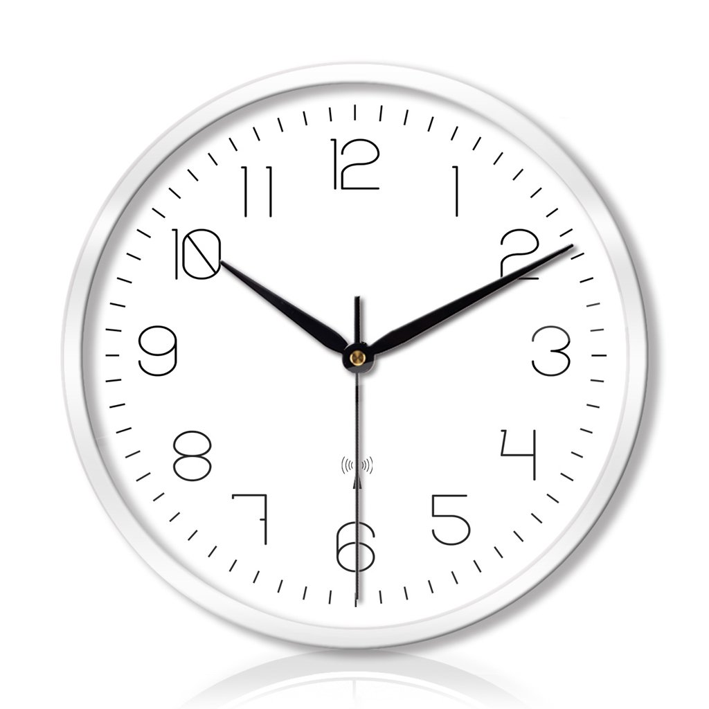 クリエイティブなリビングルームのベッドルームの金属壁の時計ミュートスキャンスマート電気時計の壁時計 LCS (色 : ビースタイル び゜゛すたいる-白, サイズ さいず : 12インチ) B07FCGJ9R8 12インチ ビースタイル び゜゛すたいる-白 ビースタイル び゜゛すたいる-白 12インチ