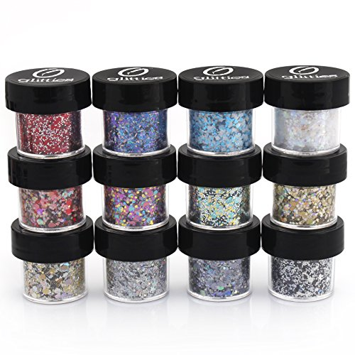 polyester-mixed-glitter-12-piece-kit-includes-solvent-resistant-dust-powder-hexagon-holographic-glit