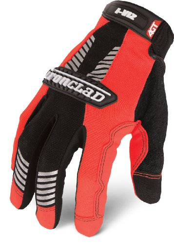 Ironclad IVO2-03-M I-Viz Reflective Orange 2 Glove, Medium, 1-Pack -