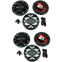 4) New BOSS CH6500 6.5 2-Way 400W Slim Mount Car Coaxial Speakers Audio Stereo