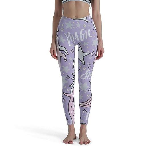 WuJin-Legging Magic Unicorn Pantalones Altos de Yoga para ...