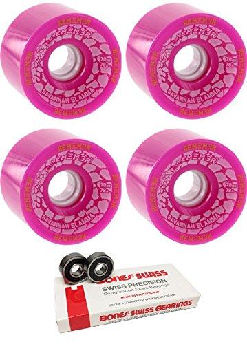 哀れなポルトガル語どれ70 mm Remember the Savannah Slamma Longboard Skateboard Wheels with Bones Bearings – 8 mm Bones Swiss Skateboard Bearings – 2アイテムのバンドル