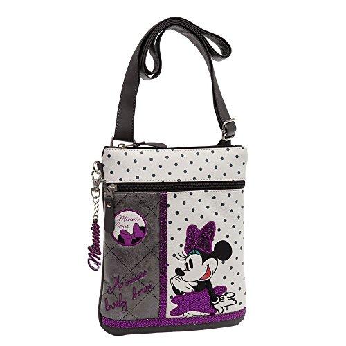 Disney 3085551 Minnie Bows Borsa Messenger, Litri 0.48, Bianco