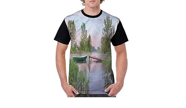 Vintage T-Shirt,Eastern Floral Motifs Fashion Personality Customization