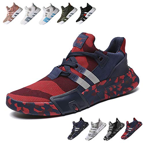 Breathable Sport Ceyue Shoes Lightweight Sneaker Navy Men's Running Women's Unisex Athletic Walking Casual Knit Red Black qrwrYC