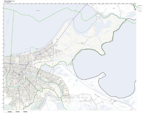 Amazon Com Zip Code Wall Map Of New Orleans La Zip Code Map Not
