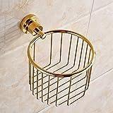 SSBY Round copper triangle basket basket gold antique bathroom toilet paper holder