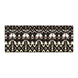 Kess InHouse Dawid Roc The Palace Walls Brown Black Bed Runner, 34'' x 86''