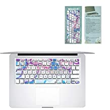 """Masino® Silicone Keyboard Cover Ultra Thin Keyboard Skin for MacBook Air 13"""" MacBook Pro with Retina Display 13""""15"""" 17"""" (US Version MacBook) (Psychedelic Multicolor)"""