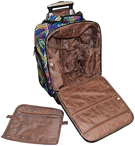 New York Chocolate Travel 18 Inch Carry-On Wheeled Luggage (Blue) by New York Chocolate Travel (Image #5)