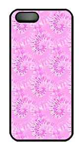 IMARTCASE iPhone 5S Case, Pink Tie Dye Seamless PC Black Hard Case Cover for Apple iPhone 5s/5