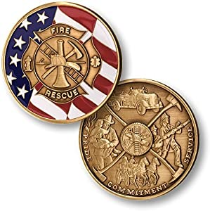 Maltese Cross with Flag Challenge Coin from Northwest Territorial Mint