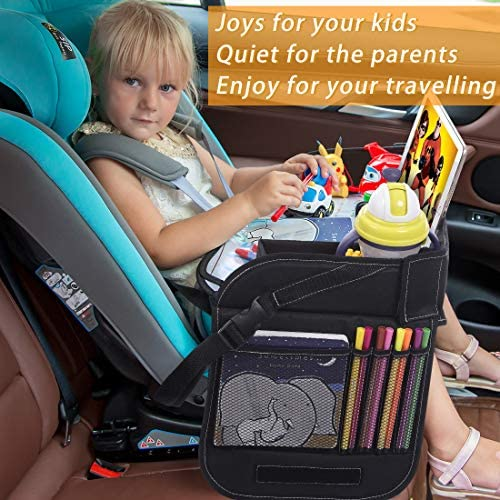 Innokids Kids Travel Lap Tray Children Car Seat Activity Snack And Play Tray Desk With Erasable Surface Ipad Tablet Holder Detachable Organizers For Cars Planes Baby Stroller Black Hy 003 Buy