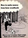 How to Make Money from Farm Woodlands How to Use a Modern Light-Weight Chain Saw to Cash in on...