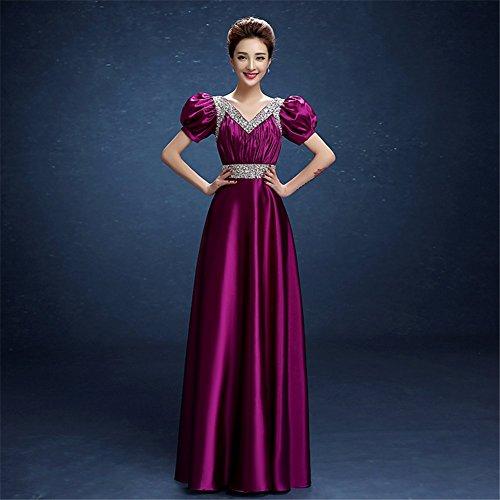 Drasawee Violett Kleid Empire Violett Kleid Violett Damen Kleid Drasawee Empire Damen Drasawee Damen Empire Drasawee TOnBavB
