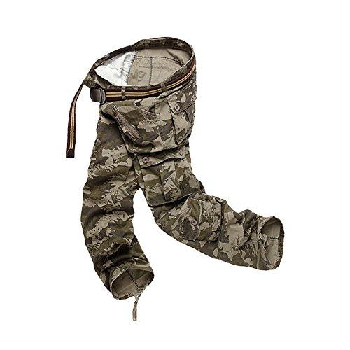 Slim Cargo Solide Trousers Fit Semen B Poches Camouflage Militaire Pantalon Casual Homme Multi Vintage v7wqH7E