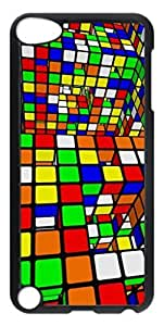 iCustomonline Colorful Squares Back Cover Snap on Case for iPod Touch 5 5th
