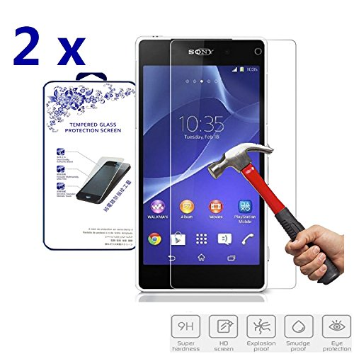 Sony Xperia Z2 Tempered Glass Screen Protector - 9
