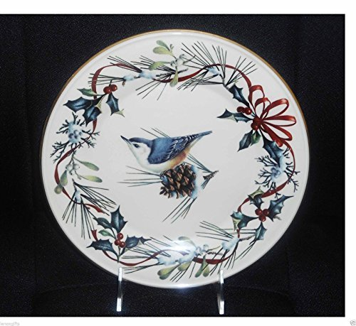 "Lenox Winter Greetings Nuthatch Bird 9"" Accent Plate"