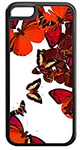 Butterfly Cluster-(Reds)-Case for the APPLE IPHONE 6 PLUS ONLY!!!-NOT COMPATIBLE WITH THE IPHONE 6!!!-Hard Black Plastic Case with Soft Black Rubber Inner Lining