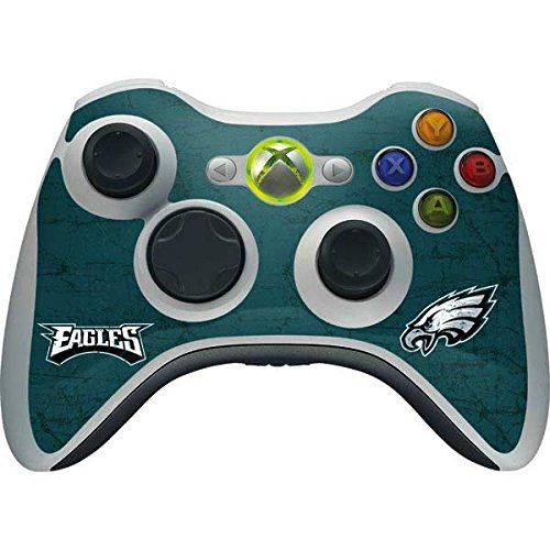Skinit NFL Philadelphia Eagles Xbox 360 Wireless Controller Skin - Philadelphia Eagles Distressed Design - Ultra Thin, Lightweight Vinyl Decal Protection