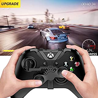 Xbox One Mini Steering Wheel, Upgrade Xbox One Controller Add-on Replacement Accessories for All Xbox Racing Game - Automatic Rebound and No Slipping