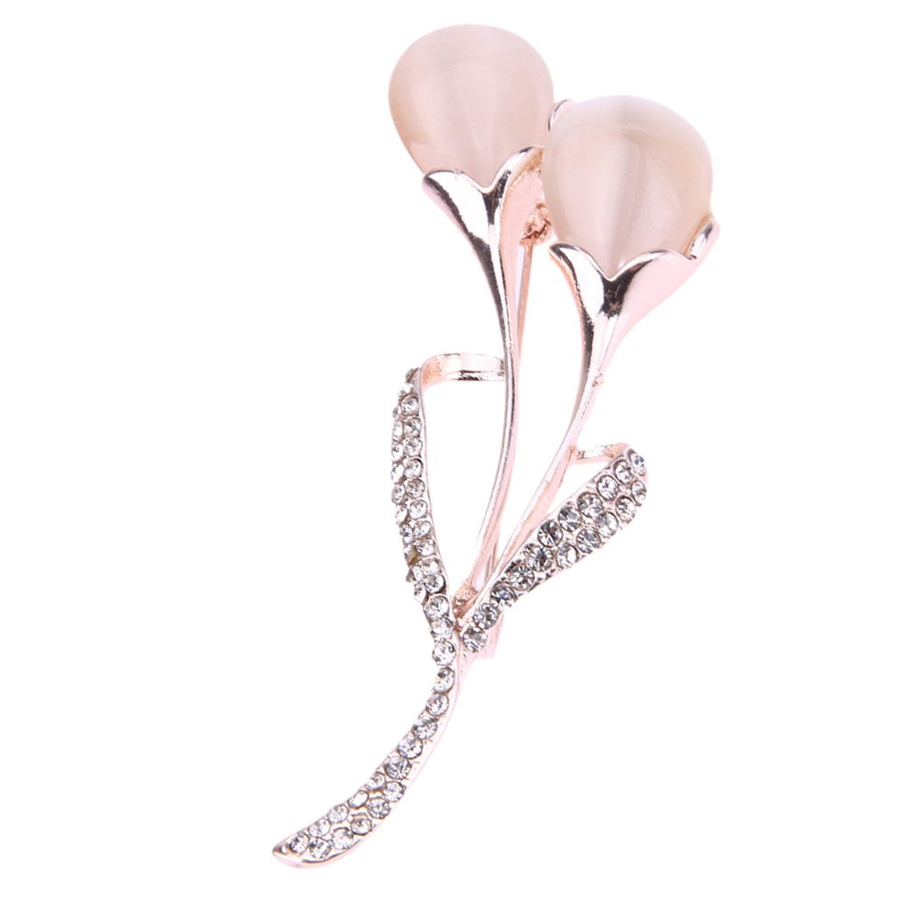 Insect Jewelry Cat Eye Stone Brooch Enamel Pins Flower Dinner Party Long Dress Decor Brooch 2672Mm Broche