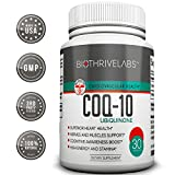 Bio Thrive Labs® High Efficiency COQ10 Supplement Pills - Coenzyme Q10 Capsules with 200mg of Pure Ubiquinone Protect Your Heart, Raise Energy Levels, Alleviate Pain and Improve Blood Pressure with No Side Effects!