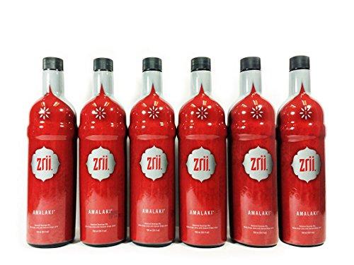 6 bottles Zrii AMALAKI Botanical Beverage Mix 750ml (25 fl oz bottle) - The Original Amalaki by Zrii