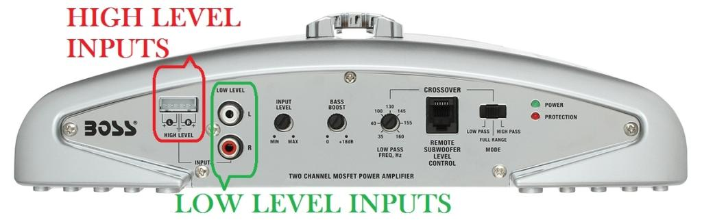 Hook Up High Level Input Amp