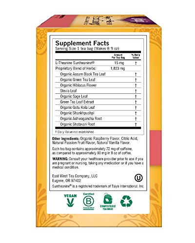 Yogi Tea, Raspberry Passion Perfect Energy, 16 Count (Pack of 6), Packaging May Vary