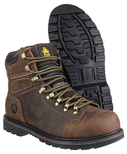 Amblers Safety - Botas de senderismo para hombre Marrón - Marrón / marrón claro