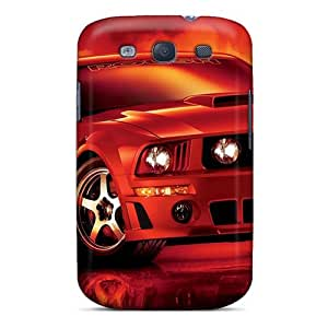 Protective Tpu Case With Fashion Design For Galaxy S3 (ford Mustang)