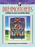 creative haven dreamcatchers stained glass coloring book adult coloring
