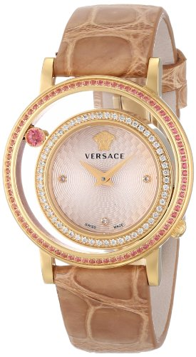 Versace-Womens-VDA060014-Venus-Stainless-Steel-Watch-with-Beige-Leather-Band