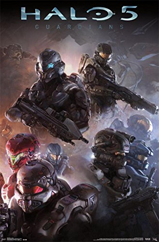 Halo 5 - Troops Poster 22 x 34in (Game Shirt Boys Halo Video T)