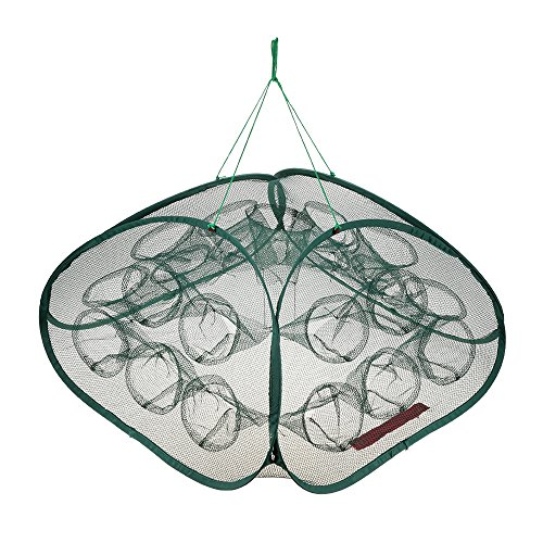 rtable Fishing Net Shrimp Cage Foldable Crab Fish Shrimp Mesh Trap Cast Net Folding Fishing Net ()