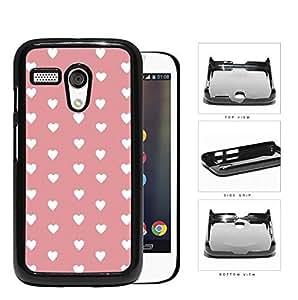 Hearts Pattern On Pink Background Hard Plastic Snap On Cell Phone Case Motorola Moto G