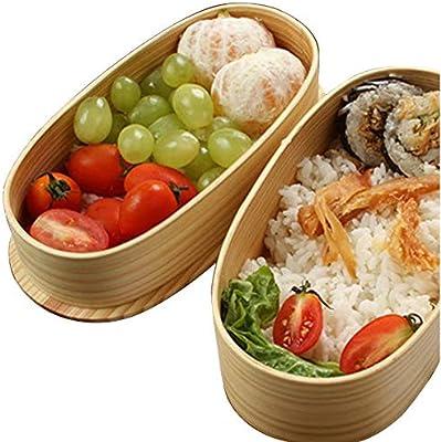 Bento Box, madera Meal Prep caño seguro Thermo Lunch Box Guardería ...