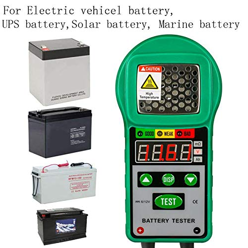 12V DC Automotive Resistance Test Auto For Electric Battery Energy Storage Marine Battery Testers TOOGOO DY225 Car Battery Tester Analyzer 6V Batteries & Accessories