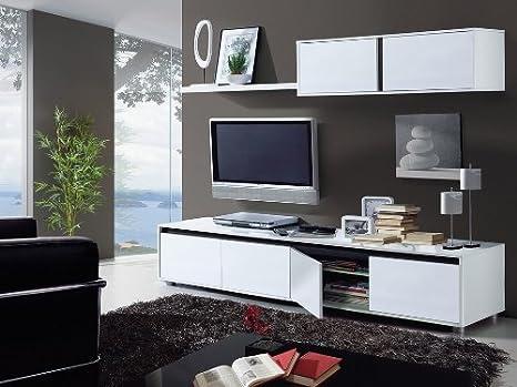 MUEBLES MATO - Mueble de Salon Aura Blanco Brillo: Amazon.es ...