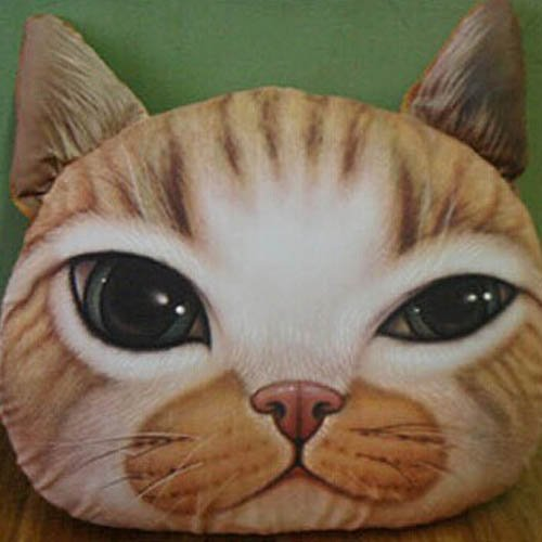 3d Effect Big Cat Face Decorative Car Sofa Decoration Chair Backrest Cuddle Pillow 51rl 2By8nXVL