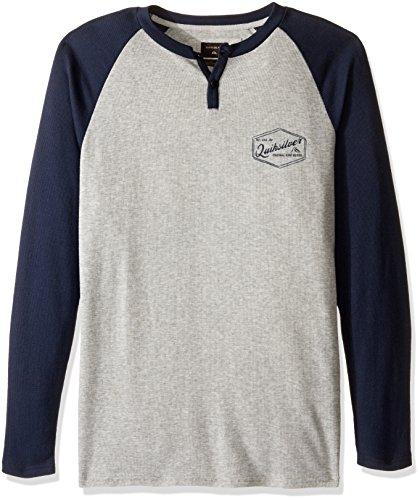 Quiksilver Men's Polar Waters Henley Baseball T-Shirt, Navy Blazer, (Baseball Henley Shirt)