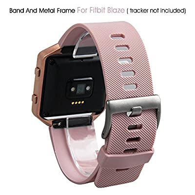Fitbit Blaze Accessory Band Metal, Silver, Large X-Large,V-Moro Milanese Loop Stainless Steel Bracelet Strap Replacement Band For Fitbit Blaze Smart Fitness Watch