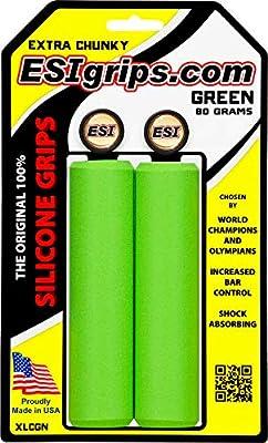 ESI GRIPS Puños Extra Chunky Color Verde: Amazon.es: Deportes y aire libre