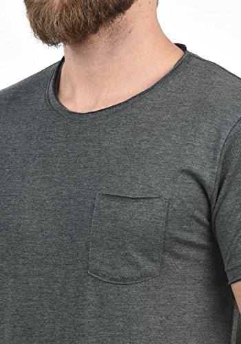 solid Andrej Redondo T Hombre Med Grey shirt Para Cuello Corta De Manga Básica 8254 Camiseta Algodón 100 Con dr7Rwqfgd