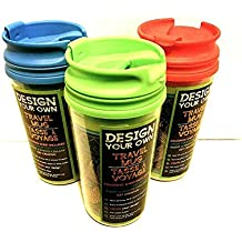 (Pack of 3) Design Your Own Travel Mugs with Sealed Lids