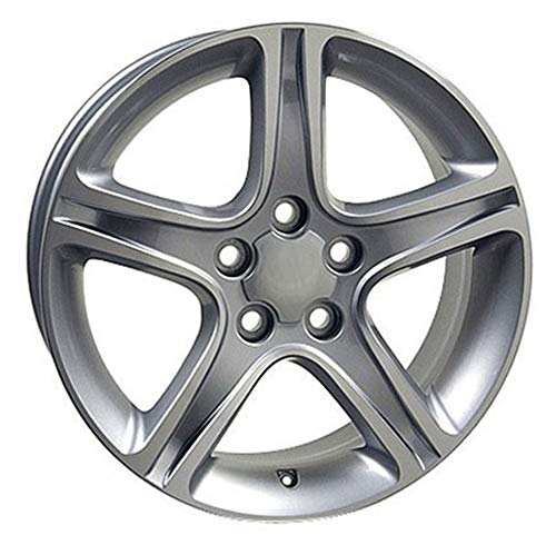 (Partsynergy Replacement For Aluminum Alloy Wheel Rim 17 Inch Fits 2006-2015 Lexus IS250 5-114.3mm 5 Spokes Silver Machined 17x7 )